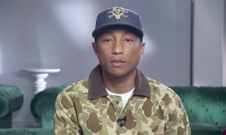 "Watch Pharrell Accept Footwear News' ""Collaboration of the Year"" Award"