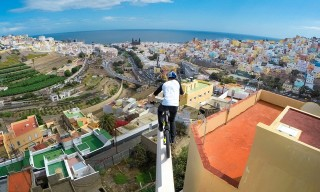 Danny MacAskill Jumps Across Spanish Rooftops With a GoPro Strapped to His Head