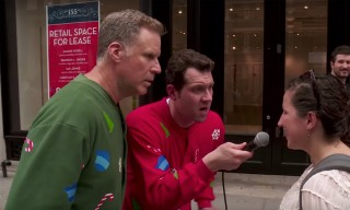 Will Ferrell Quizzes New Yorkers About Christmas Movies