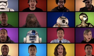 Watch Jimmy Fallon Sing a 'Star Wars' Medley A Capella With the Film's Cast