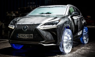 This Lexus Is Riding on Wheels and Tires Made of Ice