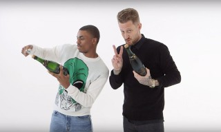 Vince Staples Tries to Open a Champagne Bottle With an iPod