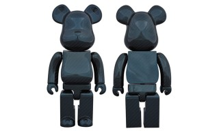 "Medicom Toy Drapes Its Signature Bearbrick in ""Dry Carbon Blue"""