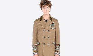 Valentino Native Couture Embroidery Pea Coat