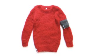fragment design and Simon Barker Release Bright-Red Mohair Sweater