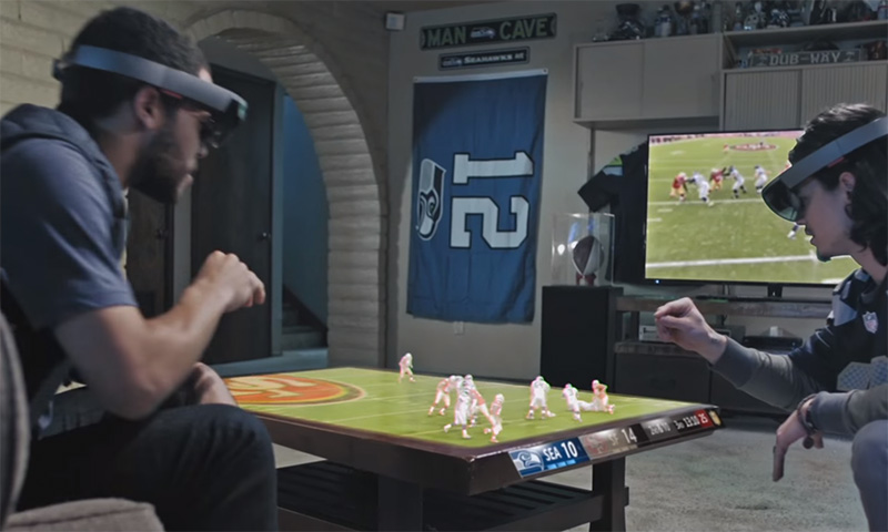 Microsoft HoloLens Brings the NFL to Life in Your Living Room Shia Labeouf