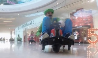 Watch These Adults Go on a Real-Life Mario Kart Race Through a Shopping Mall