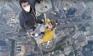 Crazy Russian Kids Climb Shenzen's 384m Shun Hing Tower