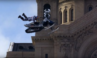 Red Bull Goes Urban Snowmobiling in Minnesota
