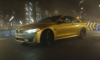 BMW Test Drives & Drifts the M4 Inside a Factory