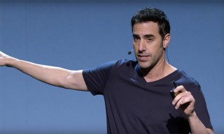 Sacha Baron Cohen Channels Steve Jobs in Keynote Parody