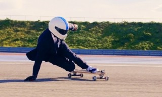 This Is How You Power-Drift a Longboard at 70MPH in a Suit