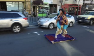 Watch Aladdin Take a Magic Carpet Ride Through San Francisco