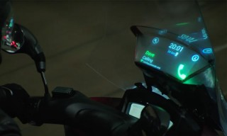 Samsung's Smart Motorcycle Windshield Connects With Your Phone