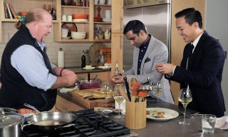 Aziz Ansari & Alan Yang Dine With the Master of Lunch, Mario Batali