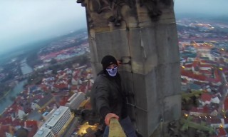 Watch a Fearless GoPro User Climb the World's Tallest Church Spire