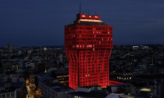 Ingo Maurer Turns the Velasca Tower Red for Milan Design Week