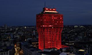 Ingo Maurer Turns the Velasca Tower Red for Milan Design Week
