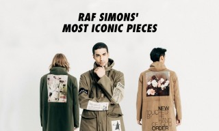 10 of Raf Simons' Most Iconic Pieces of All Time
