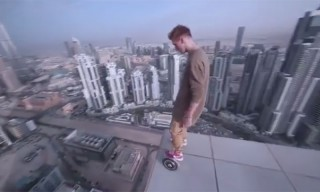 This Is What It Looks Like When You Hoverboard on Top of a Skyscraper