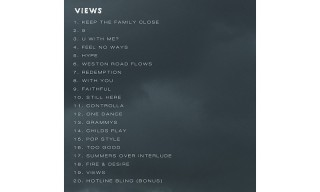 Drake Just Revealed the Full Tracklist for 'VIEWS'