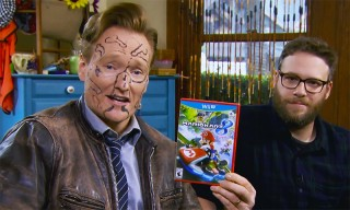 Seth Rogen & Zac Efron Draw Dicks on Conan O'Brien's Face After Beating Him in 'Mario Kart'