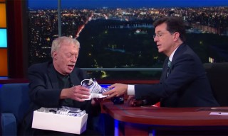 Watch Stephen Colbert Get His Own Pair of Nikes From Phil Knight