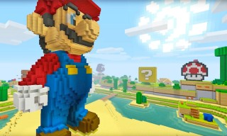 Super Mario Jumps Into the World of 'Minecraft' on Wii U