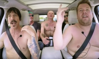 Red Hot Chili Peppers Strip Down & Wrestle in Carpool Karaoke