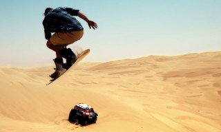 Snowboarding in the Desert Looks Completely Insane