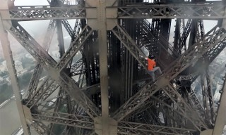 Watch Two Daredevils Make an Insane Climb to the Top of the Eiffel Tower Without Harnesses