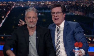 Jon Stewart Makes a Grand Return on Colbert's 'Late Show'