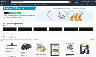 Amazon Launches a Dedicated Kickstarter Landing Page
