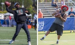 Watch Kendrick Lamar & ScHoolboy Q Play Football With the Los Angeles Rams