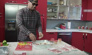 Watch Cam'ron Cook up a Banquet of Beef Steak, Scampi & Lamb Chops