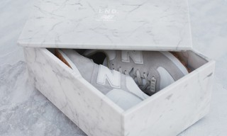 "New Balance and END. Tease Upcoming ""Marble White"" Sneakers"