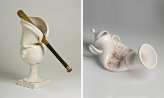 Laurent Craste Took Baseball Bats & Knives to Porcelain Vessels for His Latest Artwork