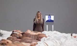 Kim Kardashian Unveils Kanye West's 'Famous' Sculpture at an LA Gallery