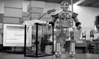 This Huge Robot Clock Has a Very Sneaky Dark Side