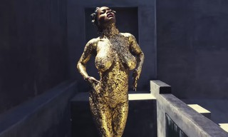 "Watch Teyana Taylor Freestyle Over Kanye's ""Champions"" While Covered in Gold Body Paint"