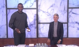 Watch LeBron James Down Vodka Shots on 'Ellen'
