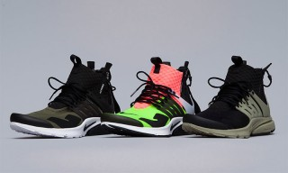 A Detailed Look at All Three Colorways of the ACRONYM x NikeLab Air Presto Mid