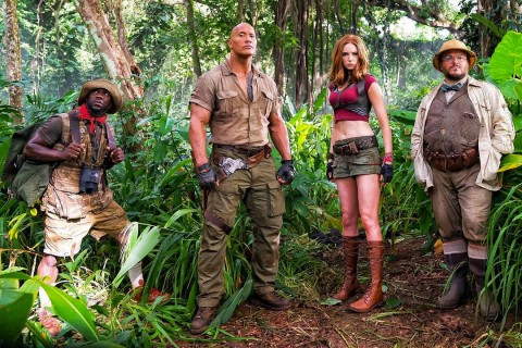 here s your first look at the new jumanji movie starring the rock
