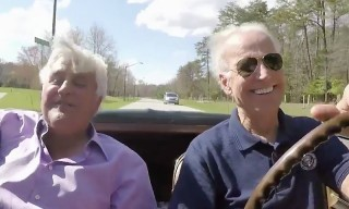 Watch Vice President Joe Biden Satisfy His Need For Speed in 'Jay Leno's Garage' TV Show