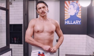 Watch a Shirtless James Franco Endorse Hillary Clinton