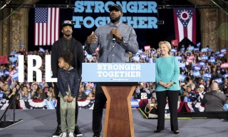 LeBron James Backs Hillary Clinton at Rally & Other News