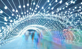 This Immersive 80-Meter-Long Light Tunnel Transforms a Park in Tehran