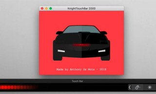 Now You Can Bring the KITT 2000 Animation to Your Macbook Pro TouchBar