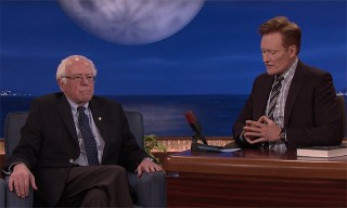 Watch Bernie Sanders Give a Withering Appraisal of Donald Trump on 'Conan'