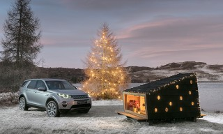 Land Rover Built a Compact Christmas Cabin Fit for Santa